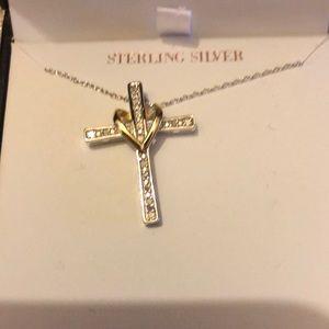 Genuine diamond cross necklace